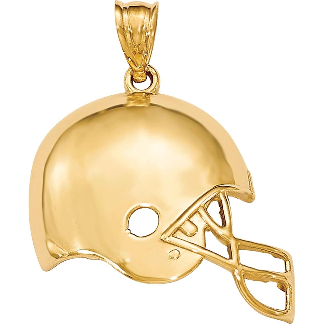 14k Yellow Gold Polished Football Pendant