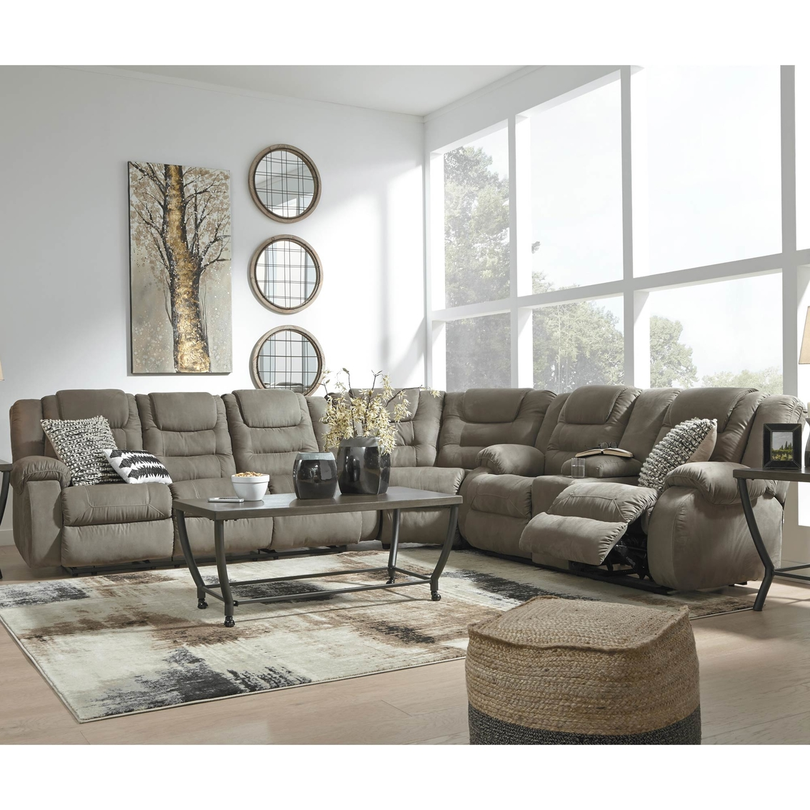Signature Design By Ashley Mccade 3 Pc. Reclining Sectional ...
