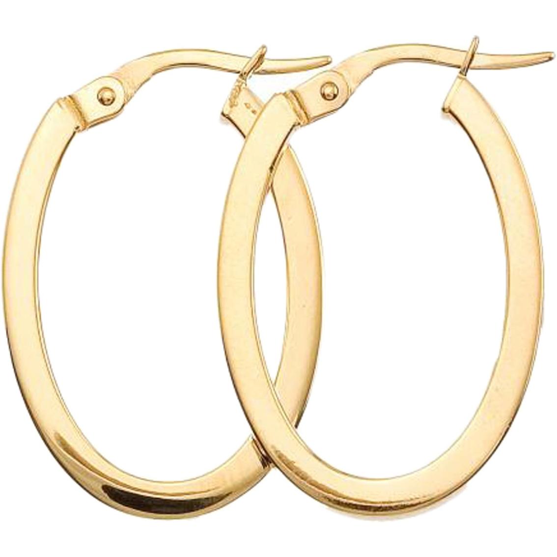 roberto coin yellow gold hoop earrings