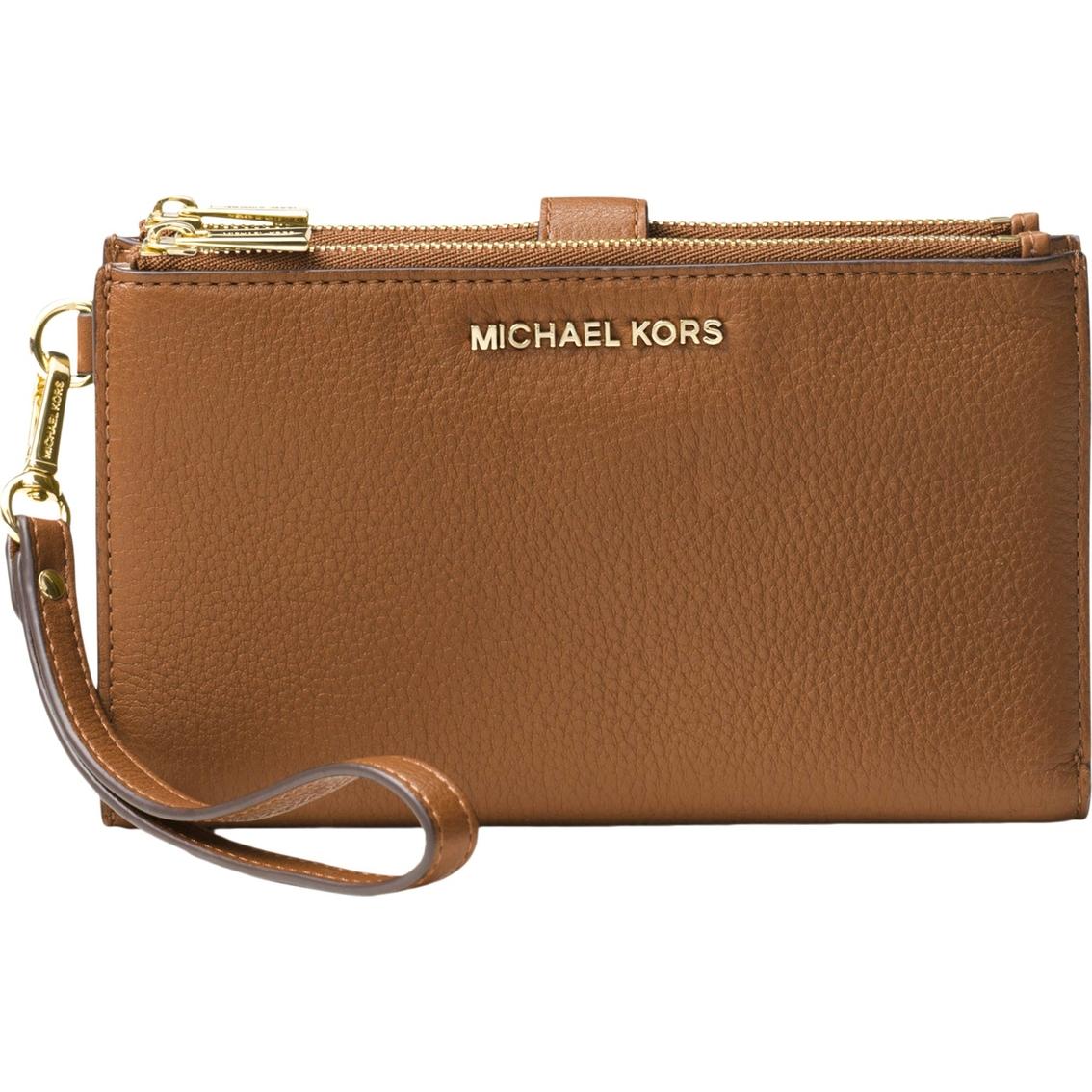 Michael Kors Women's Adele Leather Smartphone Wallet Acorn
