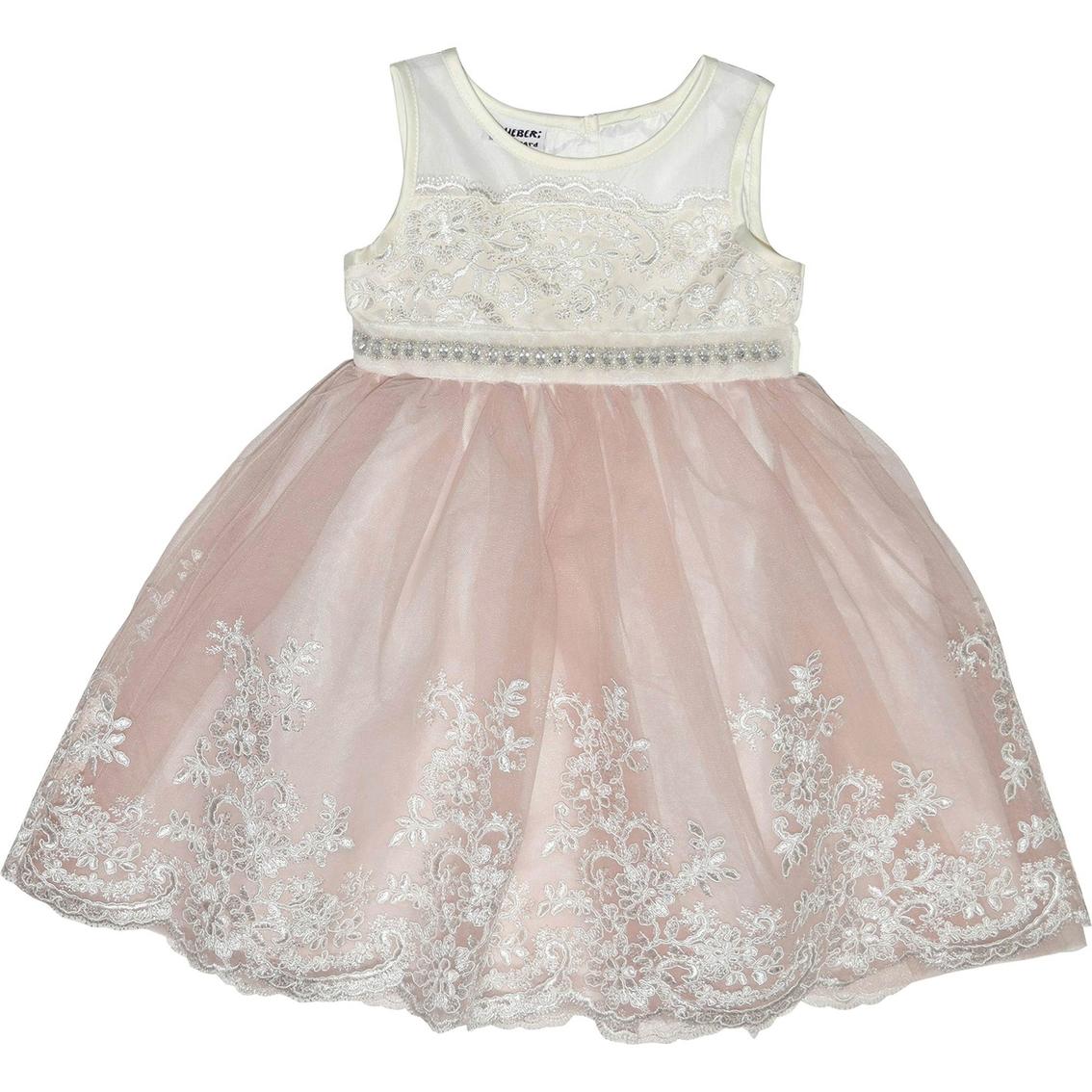 968b9ba56c69c Blueberi Boulevard Infant Girls Tulle Border Dress | Baby Girl 0-24 ...