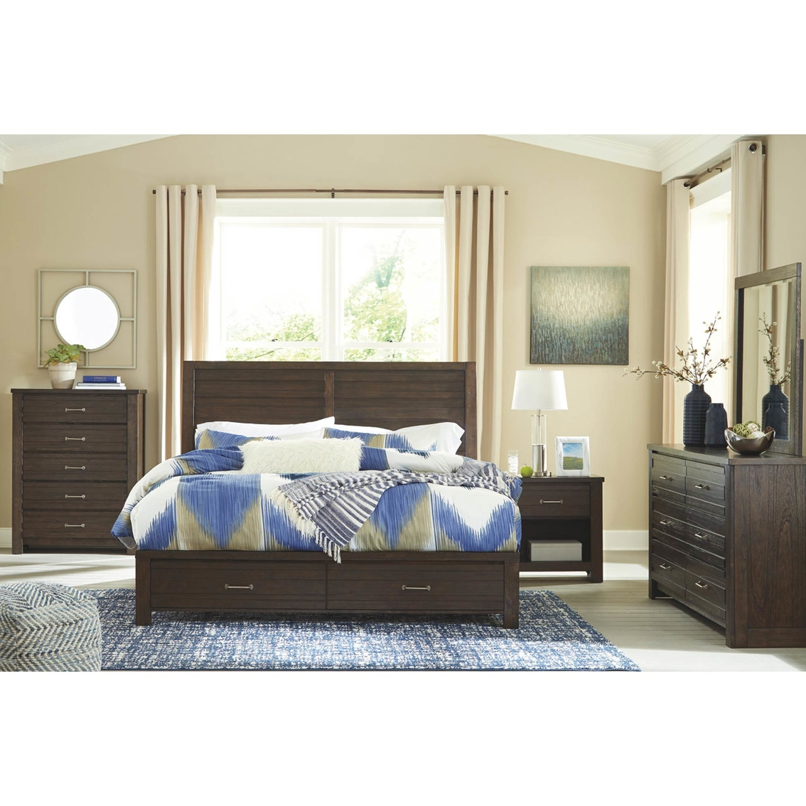 Signature Design By Ashley Darbry Storage Bed 4 Pc Set Bedroom Sets Furniture Appliances Shop The Exchange