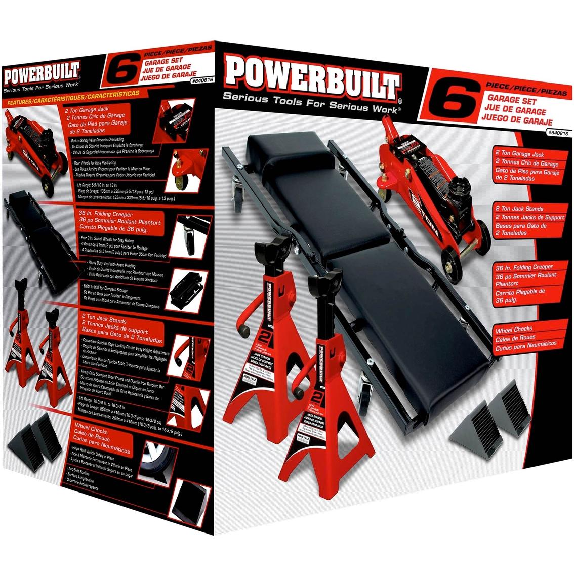 Powerbuilt 6 Pc Garage Tire Change Service Kit Emergency Road