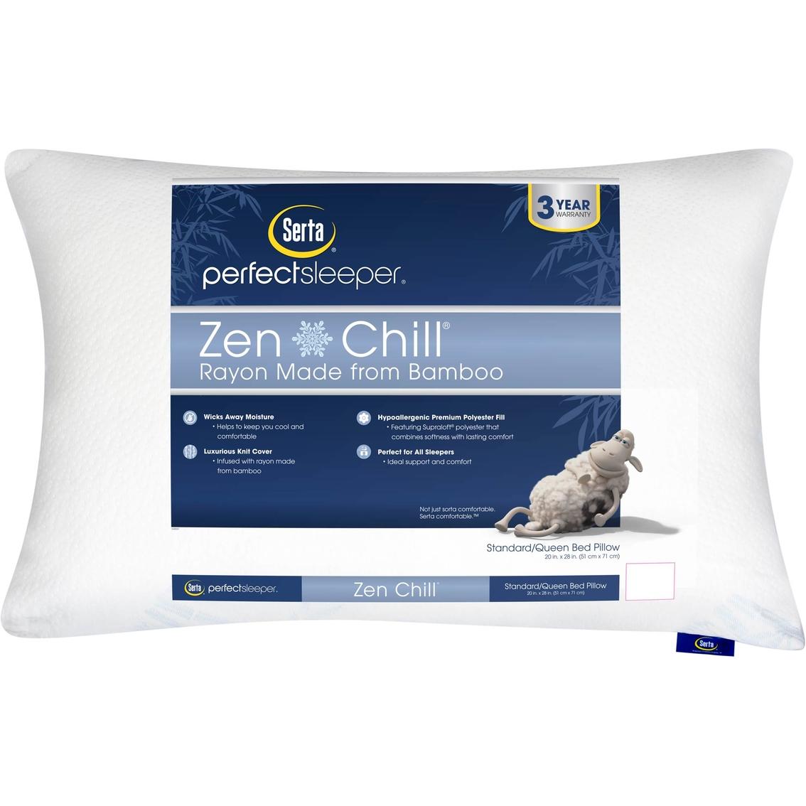 Serta Perfect Sleeper Zen Chill Pillow Bed Pillows Home