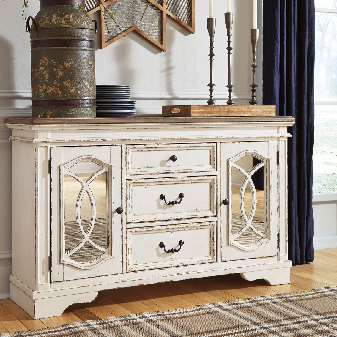 Signature Design By Ashley Realyn Dining Room Server Dining Storage Furniture Appliances Shop The Exchange