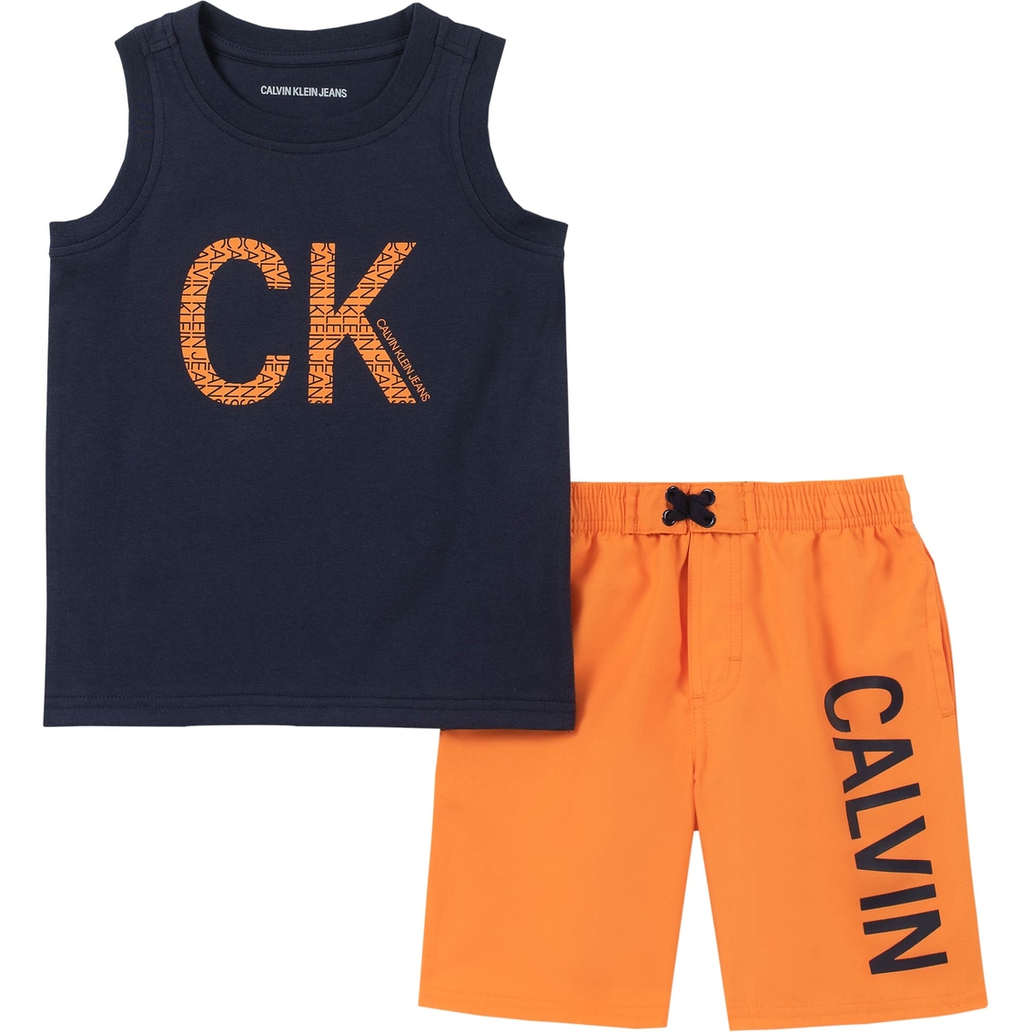 Calvin Klein Infant Boys Tank Top And Shorts Set Baby