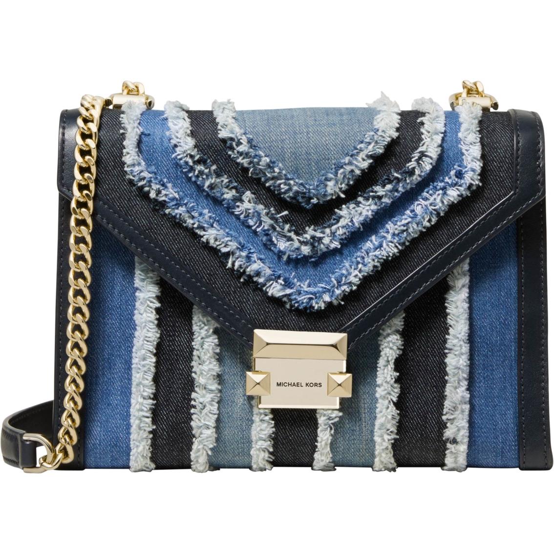 fc67f1723e6785 Michael Kors Whitney Large Shoulder Multi Wash Denim Bag | Shoulder ...