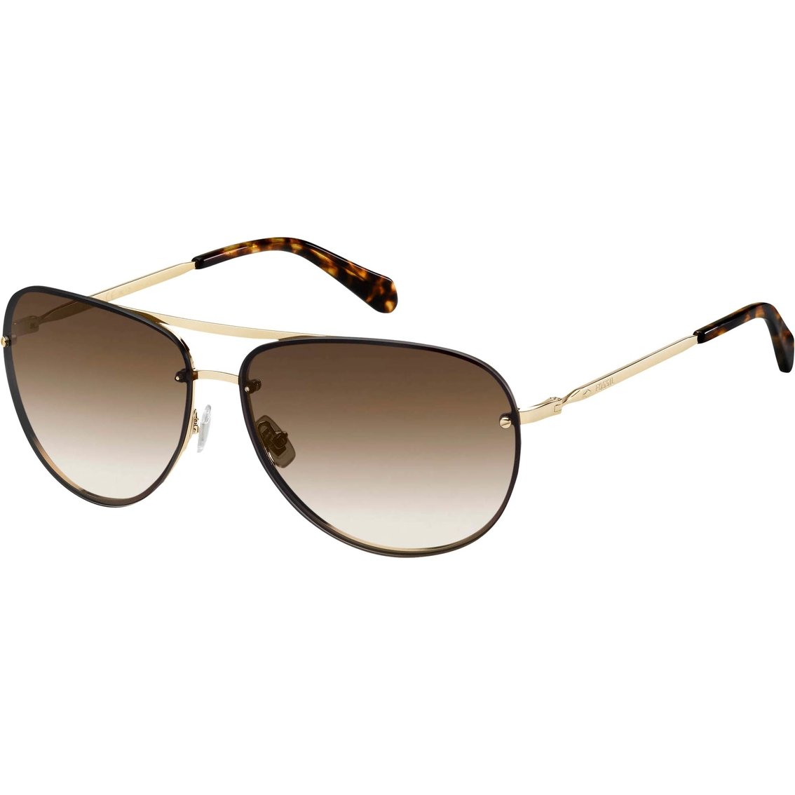 48fbacf83d Fossil Eyewear Collection Metal Aviator Sunglasses