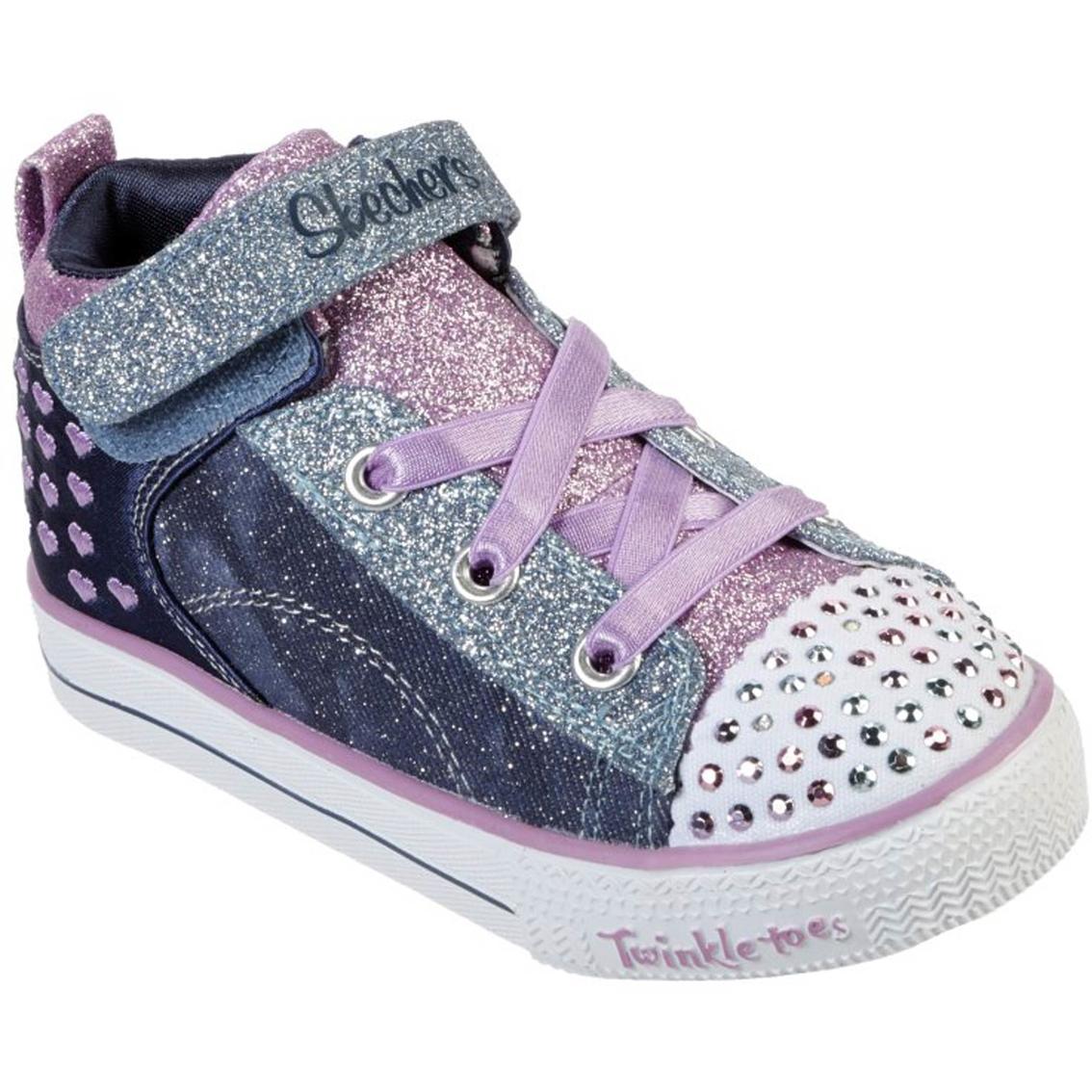 Skechers Toddler Girls Shuffle Lite Dainty Denim Shoes