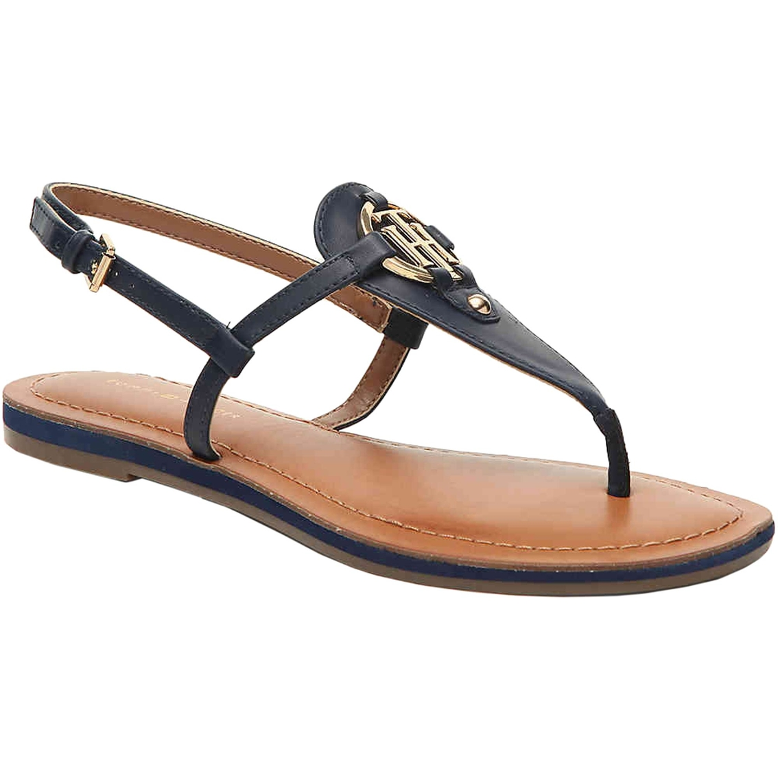 best cheap good looking on feet at Tommy Hilfiger Womens Genei Tommy Ornament Thong | Casuals | Shoes ...