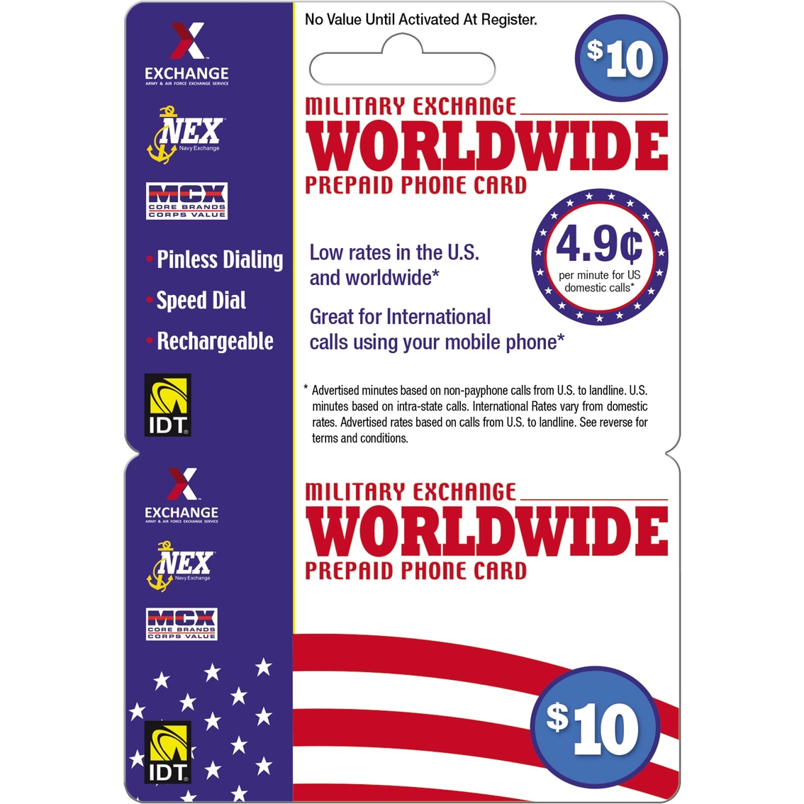 Idt Exchange Worldwide $10 Long Distance Card | Phone Cards