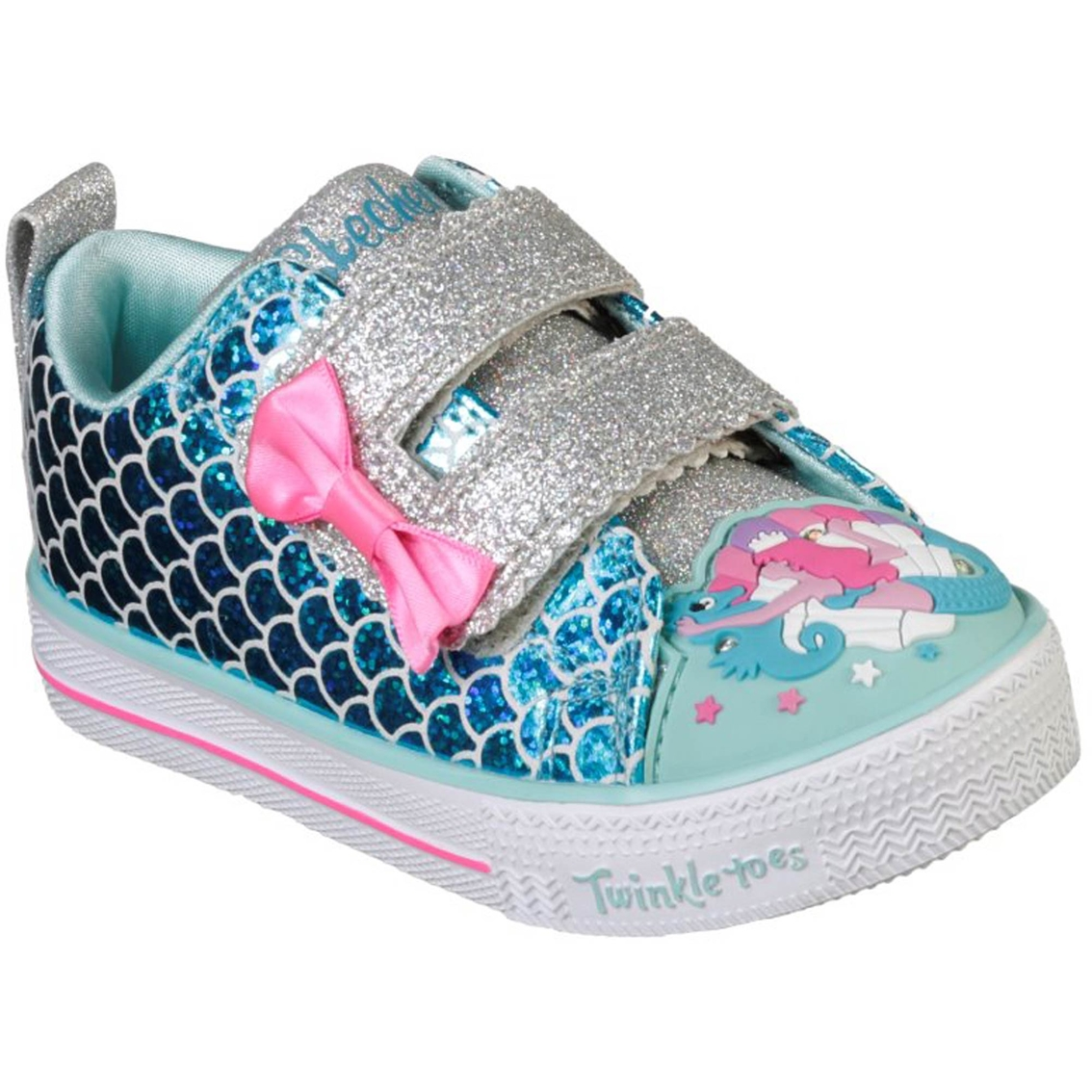 adb32565f7078 Skechers Toddler Girls Shuffle Lite Mermaid Parade Sneakers | Casual ...