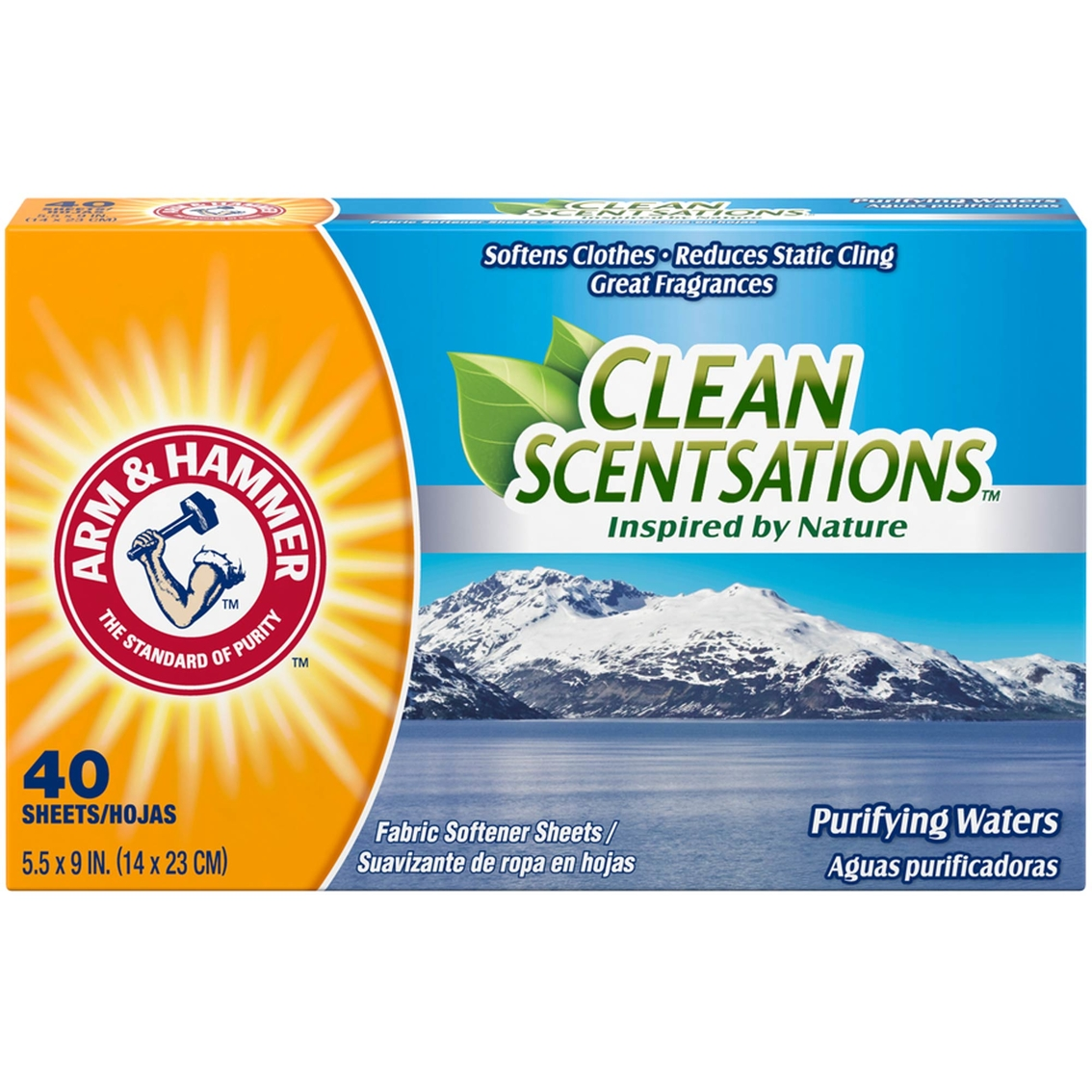 Arm & Hammer Clean Scentsations Purifying Waters Fabric Softener ...