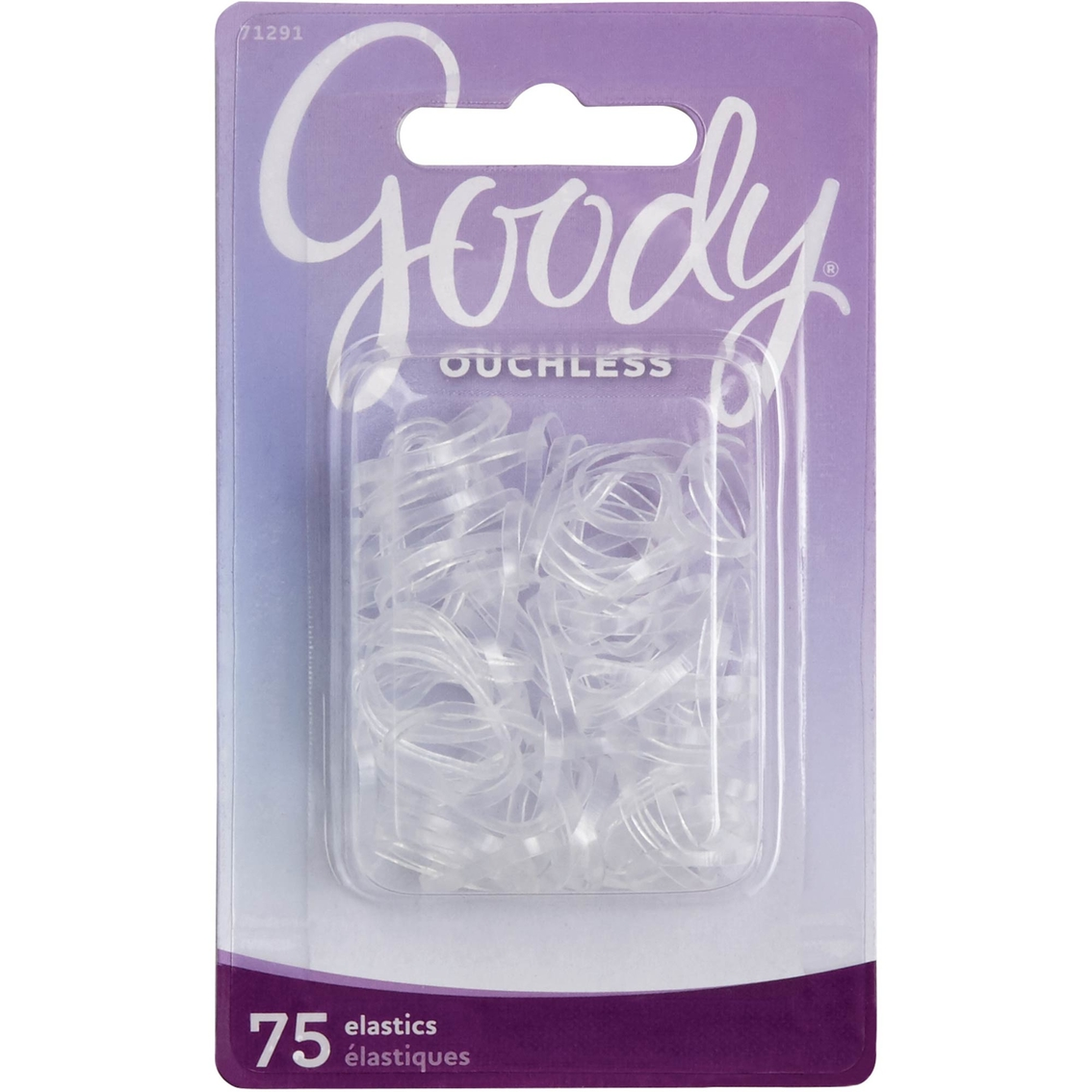 Goody Ouchless Mini Crystal Polyband Hair Tie Elastic 75 Pk.  256f817fb29