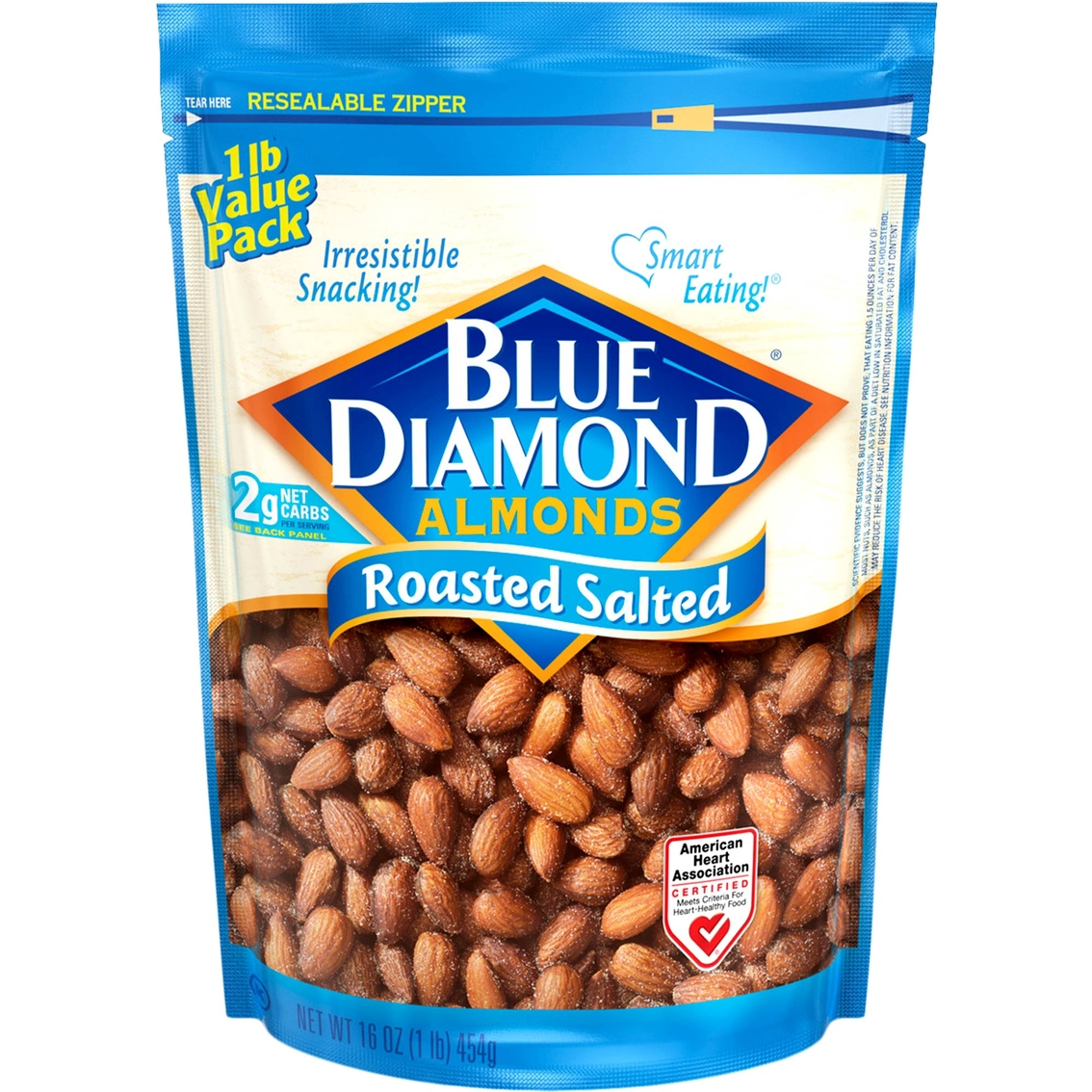 Blue Diamond Almonds Roasted Salted 16 Oz. Bag | Appetizers, Sides ...