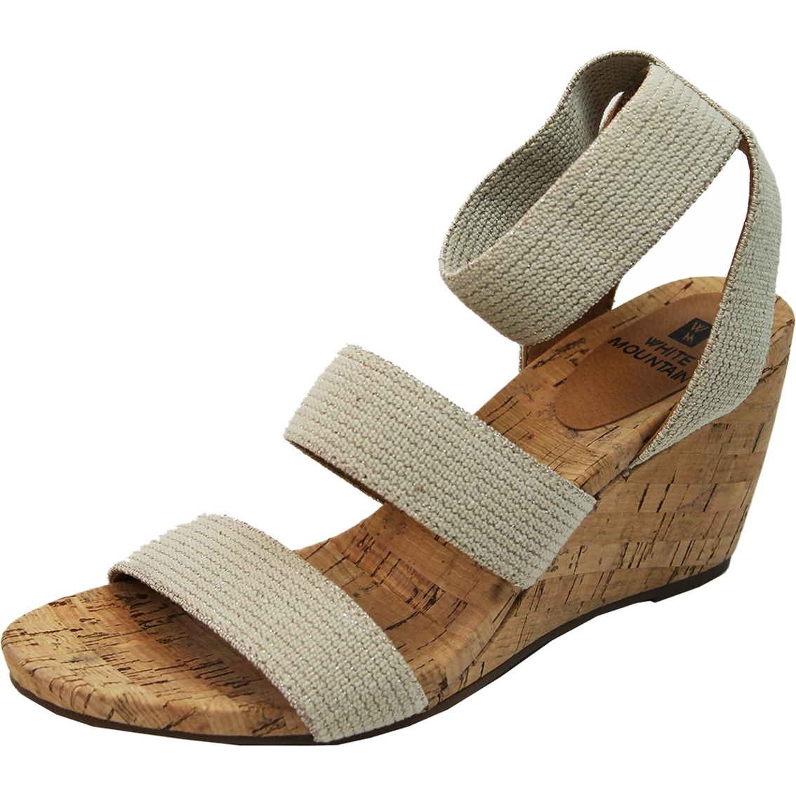 White Mountain Women S Phelix Stretch Ankle Strap Sandals