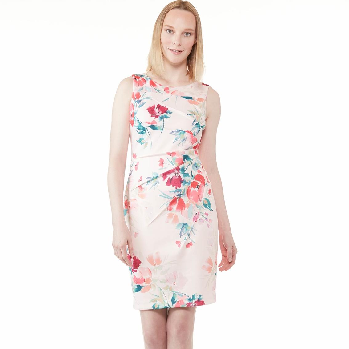 8153e2a7407ed Calvin Klein Sleeveless Printed Starburst Sheath Dress | Dresses ...