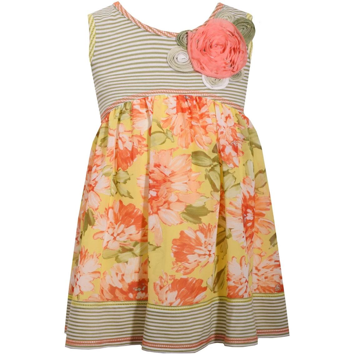d3537096342 Bonnie Jean Infant Girls Stripe Bodice Floral Dress | Baby Girl 0-24 ...