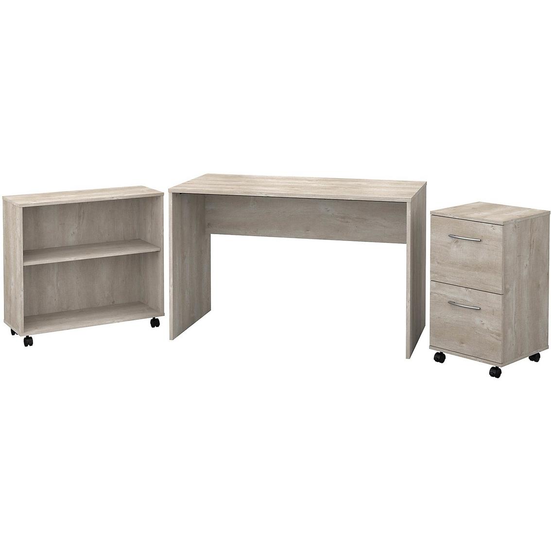 Bush Furniture Office Complete Small Desk With Mobile File Cabinet