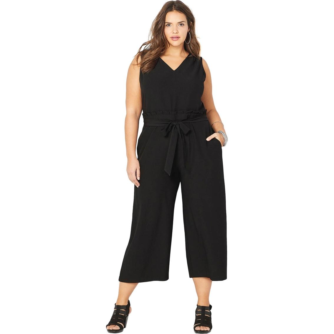 Avenue Plus Size Paperbag Waist Gaucho Jumpsuit | Dresses ...