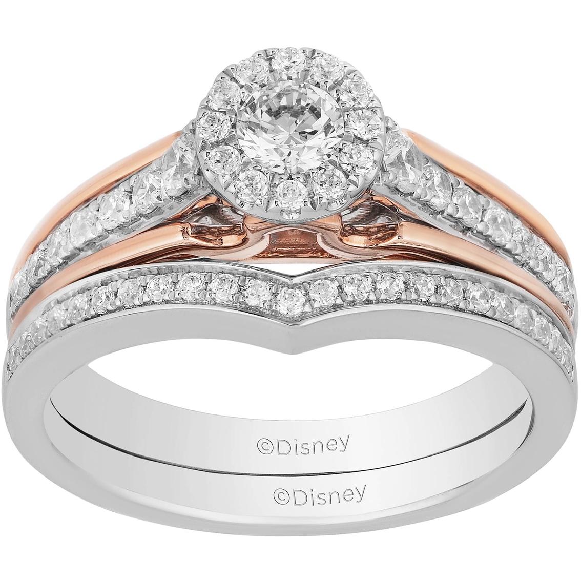 Disney Enchanted 10k White And Rose Gold 5 8 Ctw Diamond Aurora