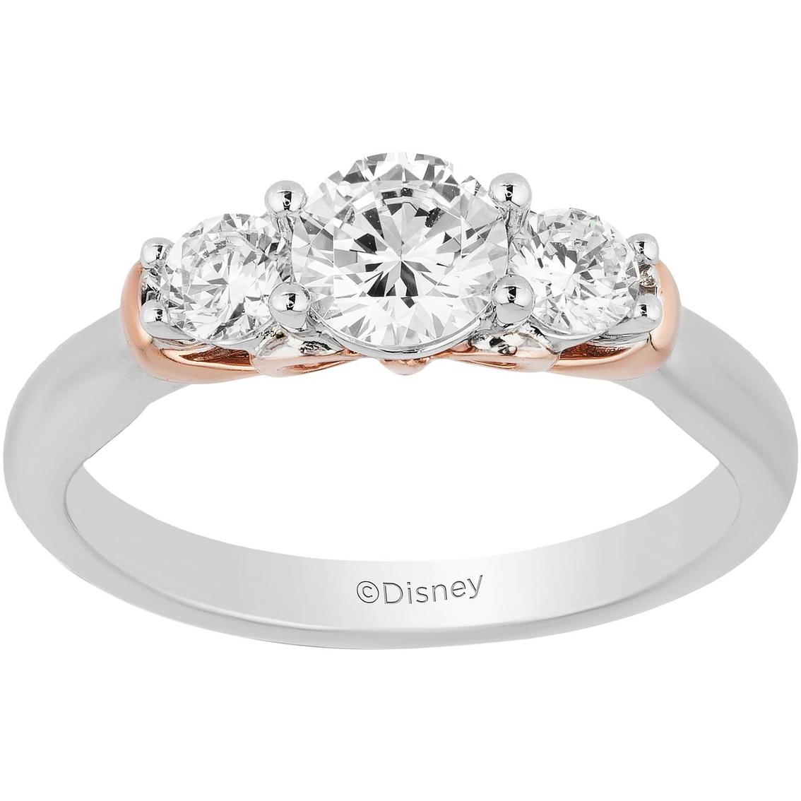 Disney Enchanted 10k Two Tone 1 Ctw Diamond Snow White Bridal Ring