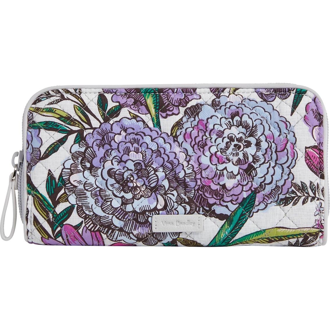 938bc5957 Vera Bradley Rfid Georgia Wallet Signature Cotton, Lavender Meadow ...