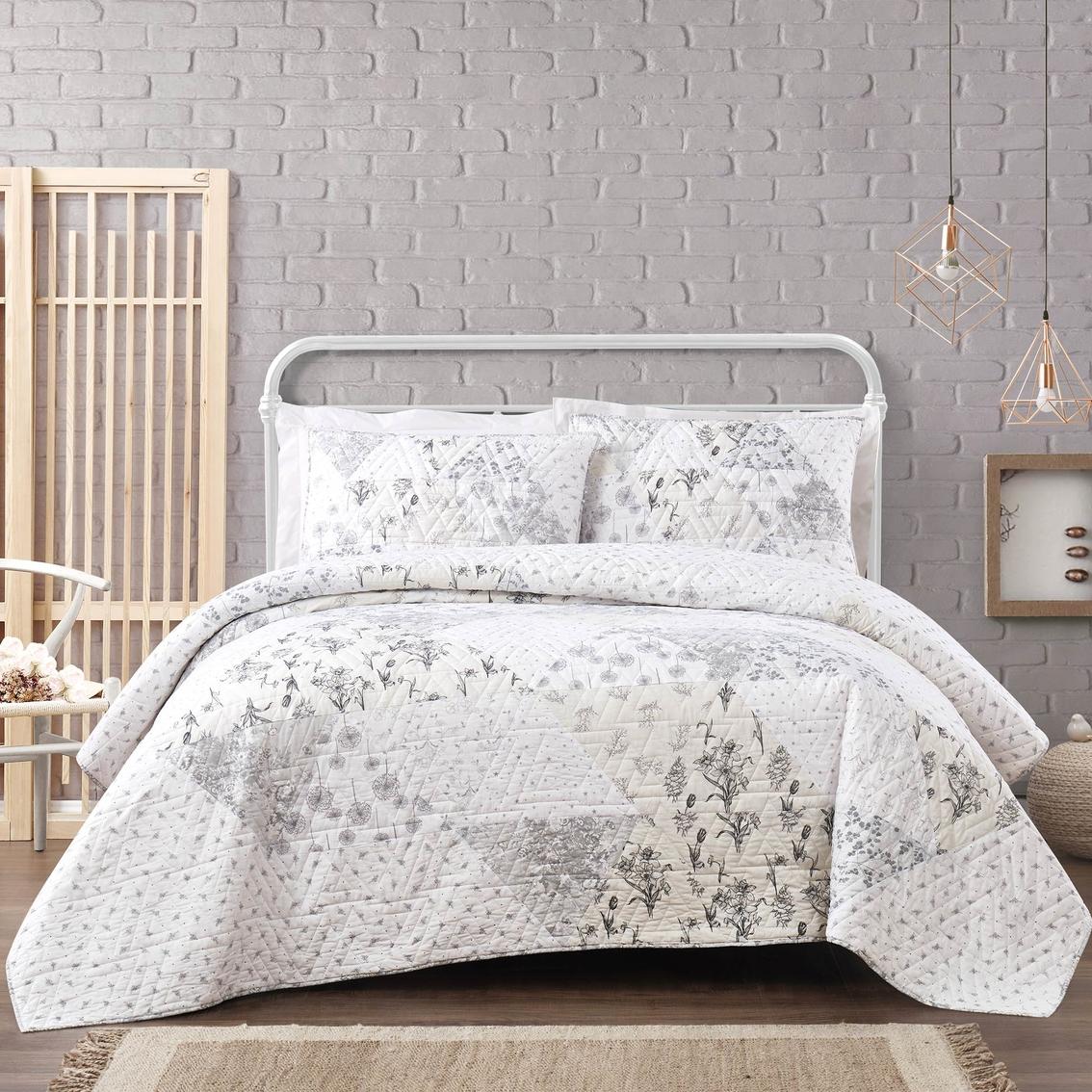 Cottage Classics Kamala Floral Cotton 3 Pc Quilt Set Bedding Sets Household Shop The Exchange
