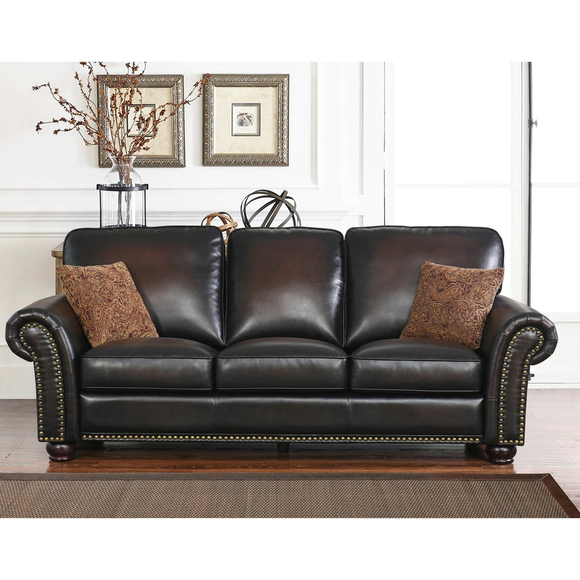 Terrific Abbyson Living Braxton 3 Pc Hand Rubbed Leather Sofa Set Caraccident5 Cool Chair Designs And Ideas Caraccident5Info