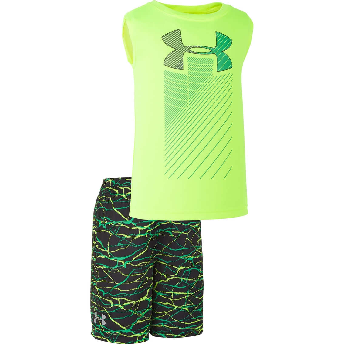 Under Armour 2T 3T 4T Fish Outfit Set Shorts Shirt NEW