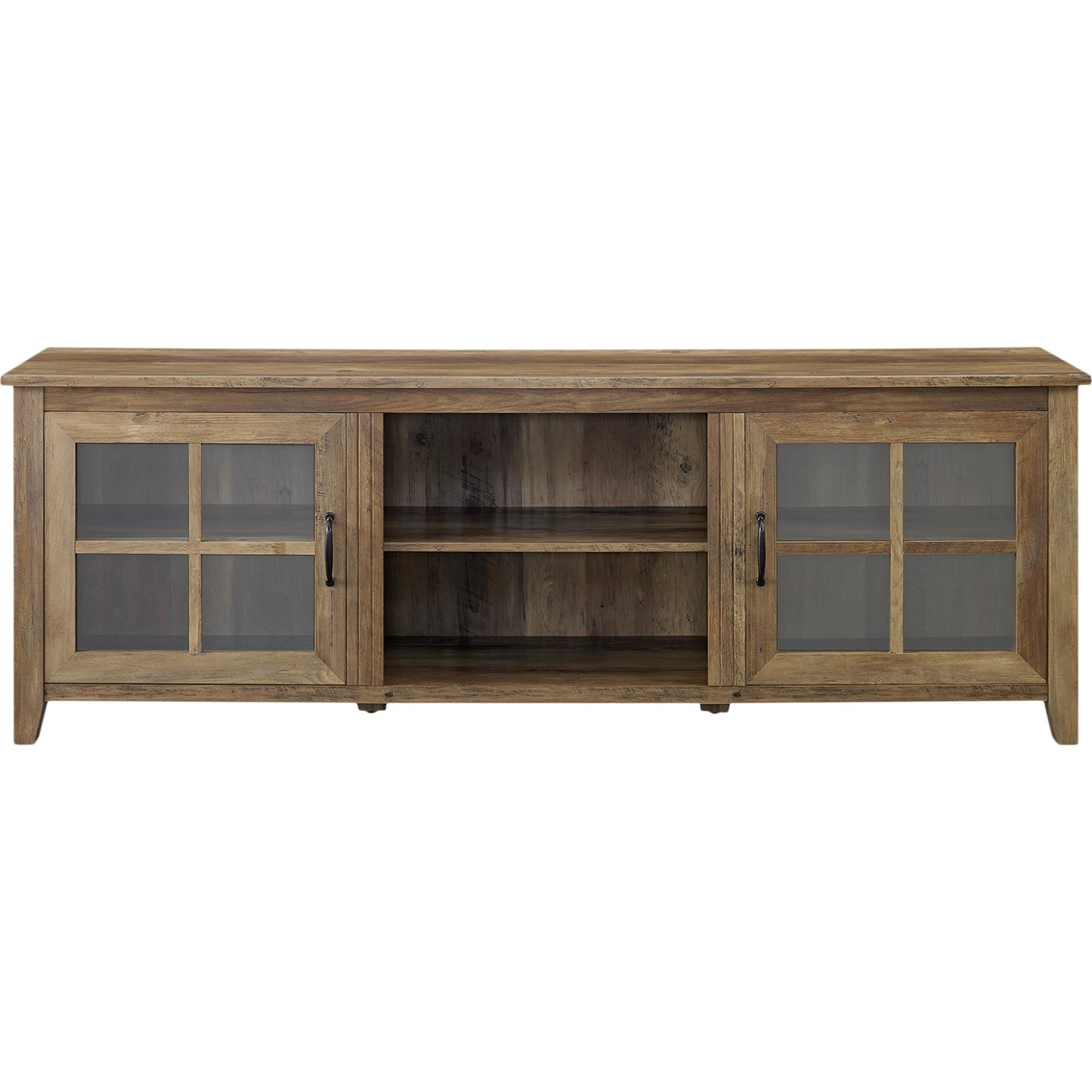 Walker Edison 70 In Wood Farmhouse Tv Stand With Glass Doors Media Furniture Furniture Appliances Shop The Exchange
