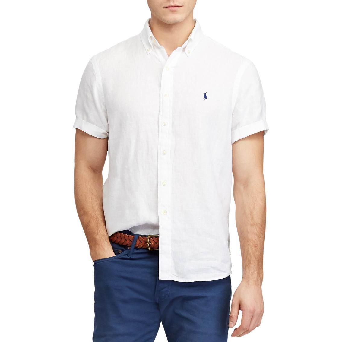 6d5dd188 Polo Ralph Lauren Classic Fit Plaid Linen Shirt | Casual | Apparel ...