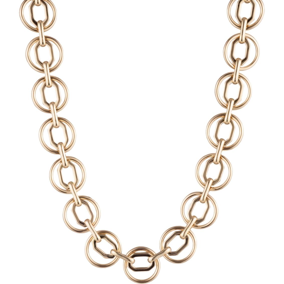 d113eb5b6549 Anne Klein Goldtone Octagon Circle Collar Necklace