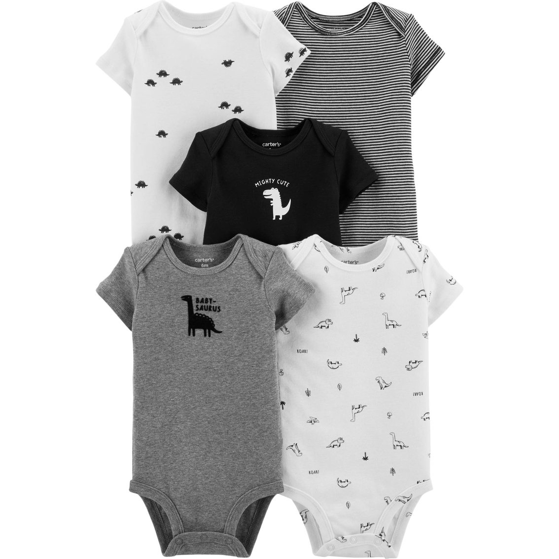New Carter/'s 5-Pack Sport Bodysuits Short Sleeve Boy 9,24Months