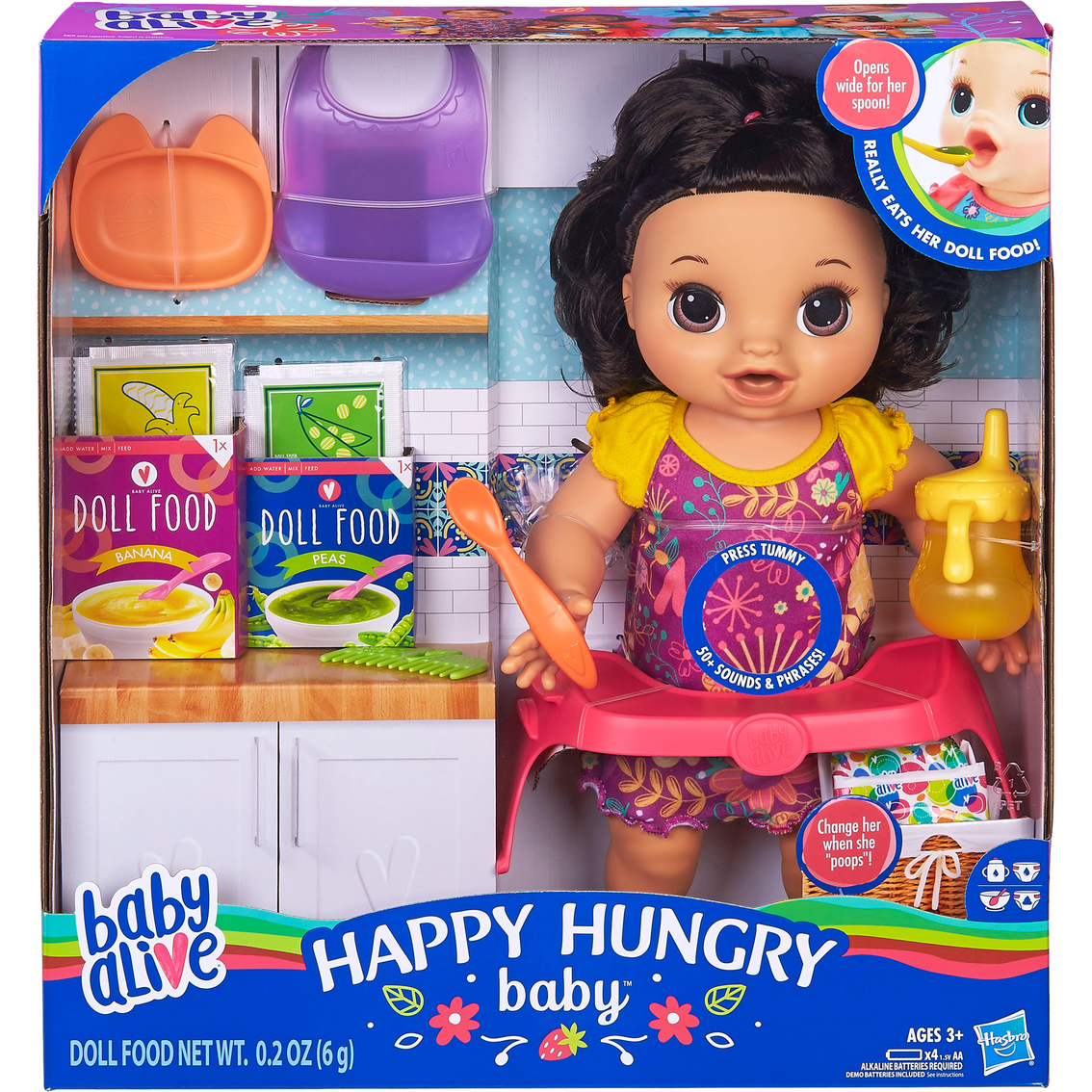 Baby Alive Happy Hungry Baby Doll Brunette Dolls Baby Toys Shop The Exchange