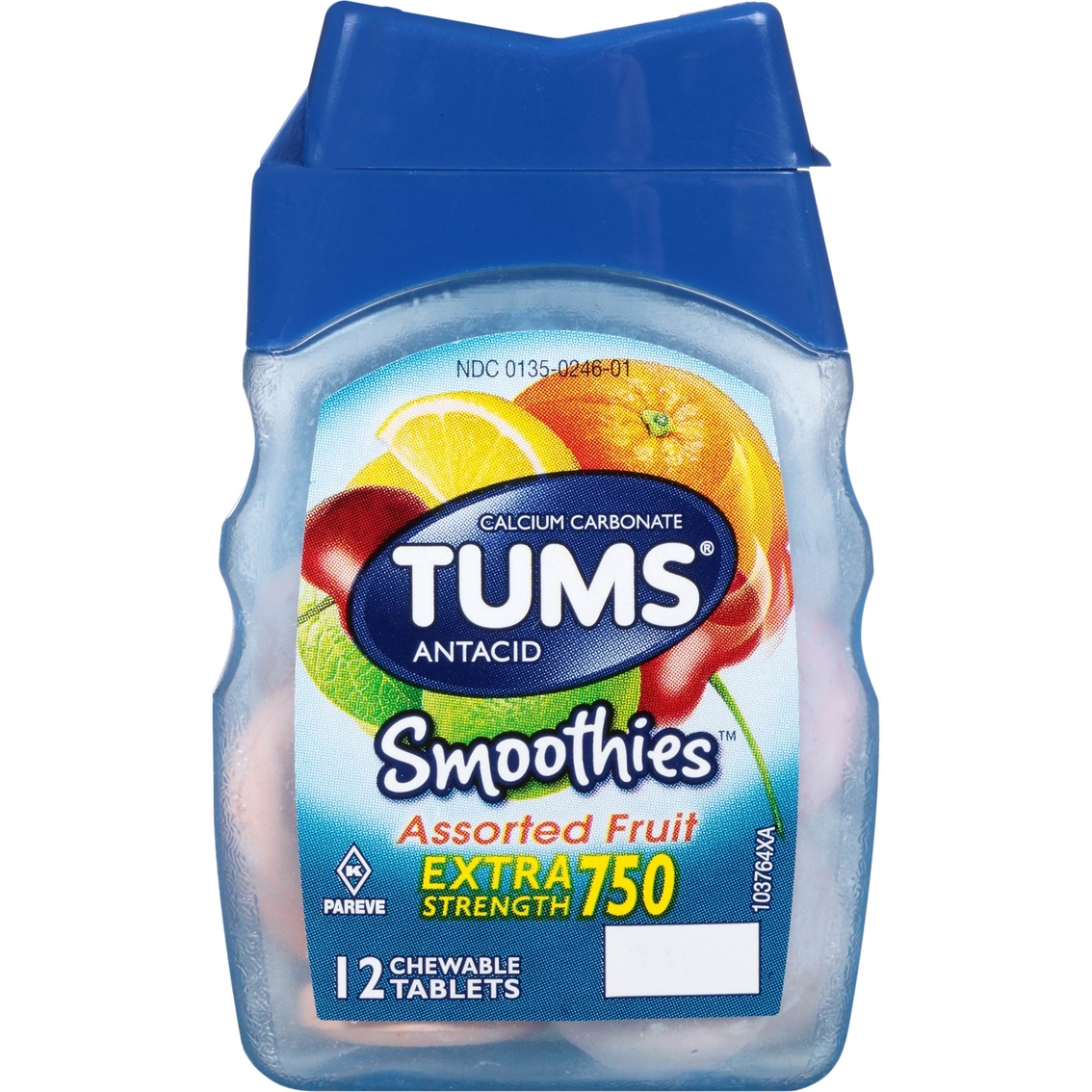 tums smoothies assorted fruit chewable tablets 12 ct.   digestive