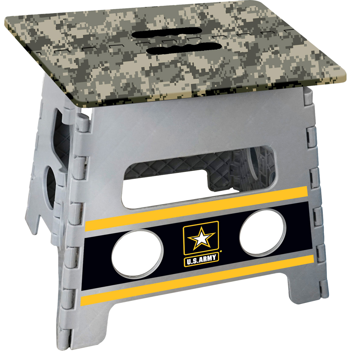 Stupendous Fan Mats Military Branch Folding Step Stool Stepladders Ibusinesslaw Wood Chair Design Ideas Ibusinesslaworg