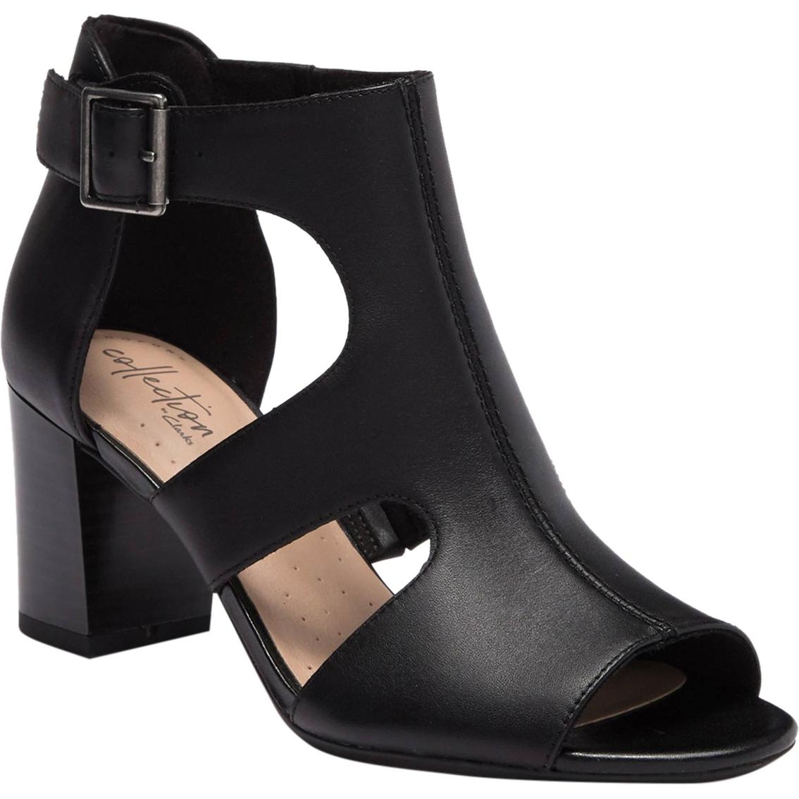 66a94fd0ff1 Clarks Women's Deva Heidi Ankle Strap Block Heel Sandals | Deal Of ...