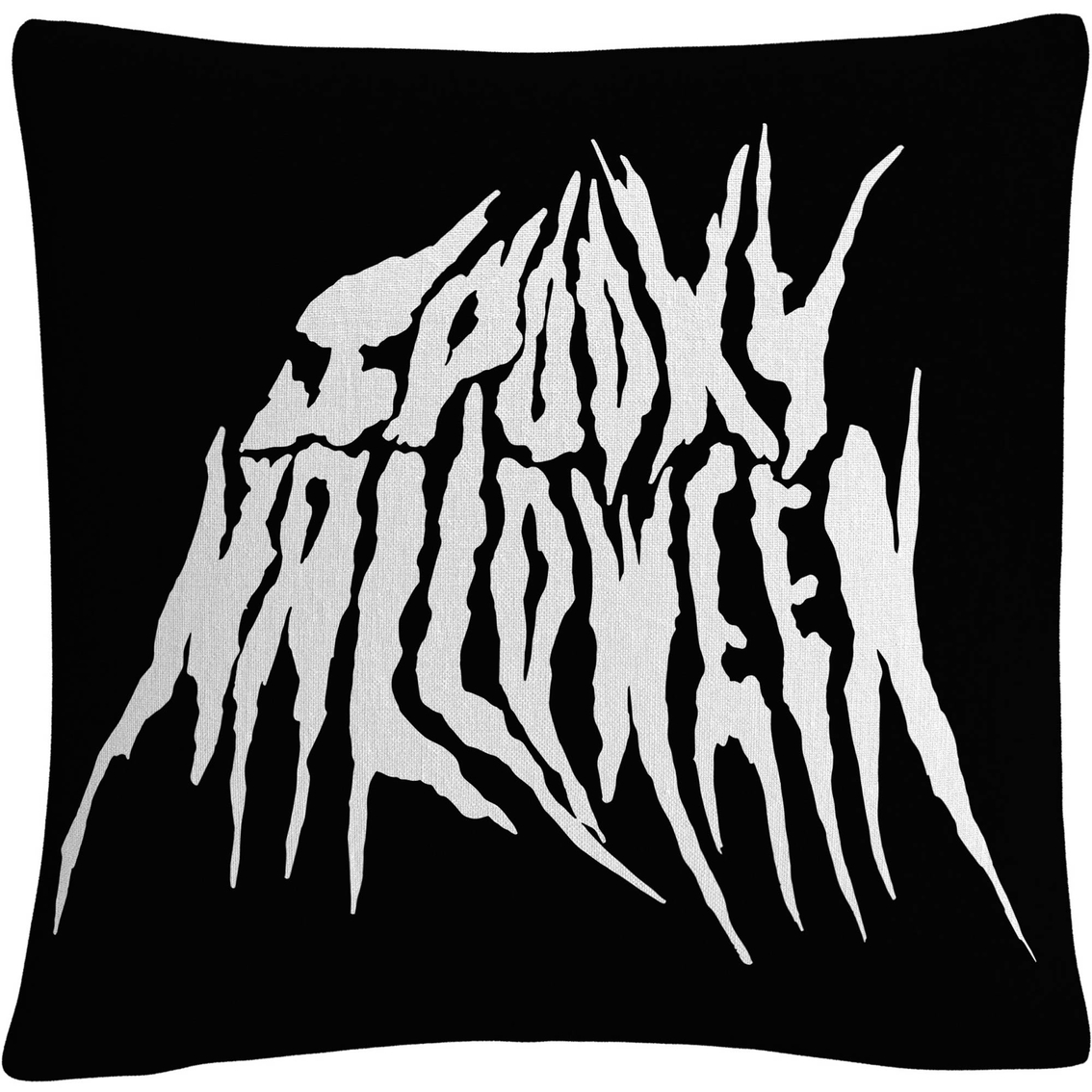 Trademark Fine Art White Spooky Metal Halloween Decorative Throw Pillow Wall Decorative Accents Household Shop The Exchange