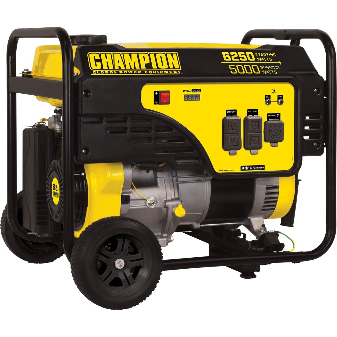 Champion 5000w Portable Generator With Wheel Kit ...