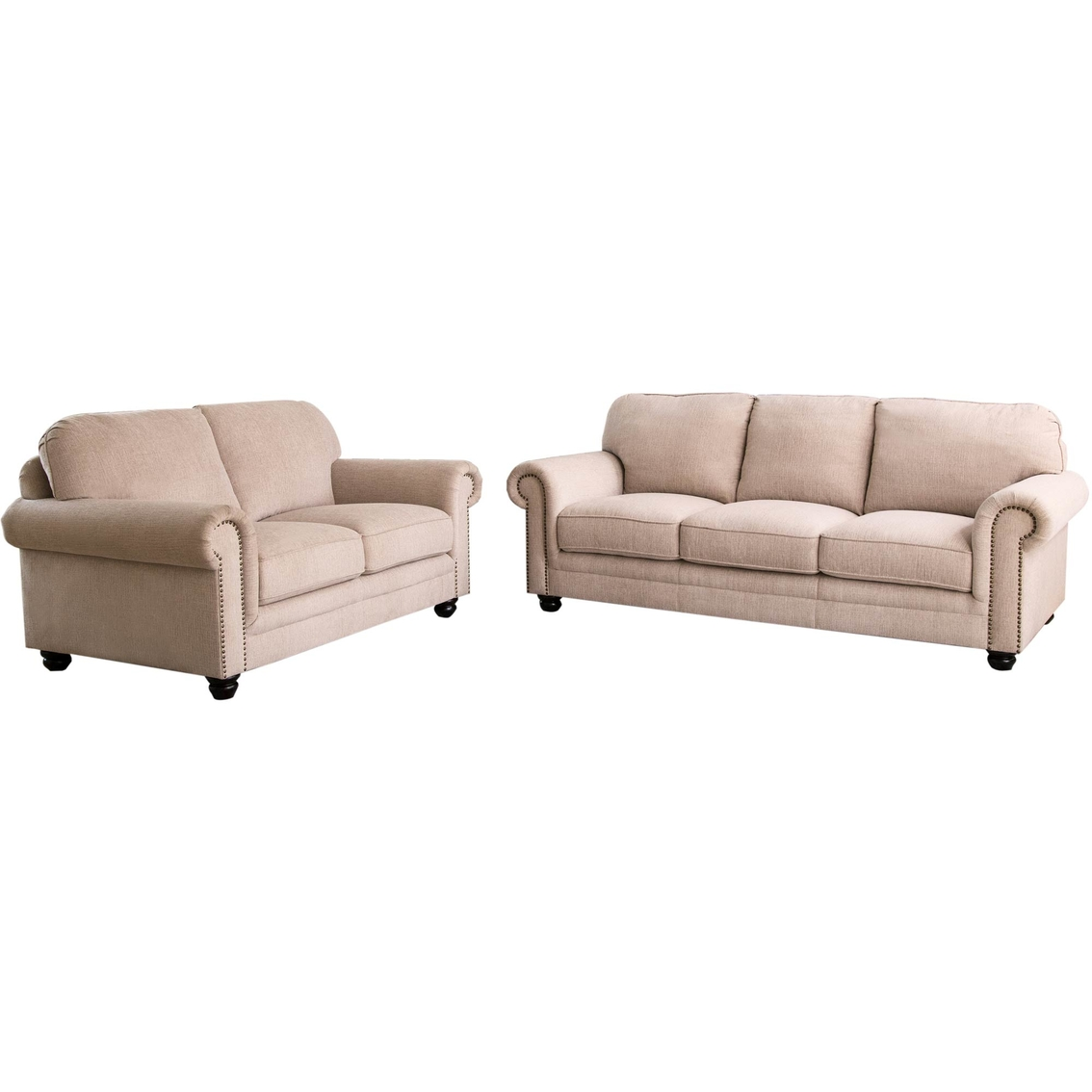 Pleasing Abbyson Solano Fabric Sofa And Loveseat 2 Pc Set Living Caraccident5 Cool Chair Designs And Ideas Caraccident5Info