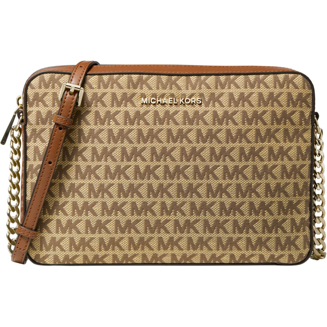 MICHAEL Michael Kors Jet Set Signature Large Crossbody Bag | Dillard's
