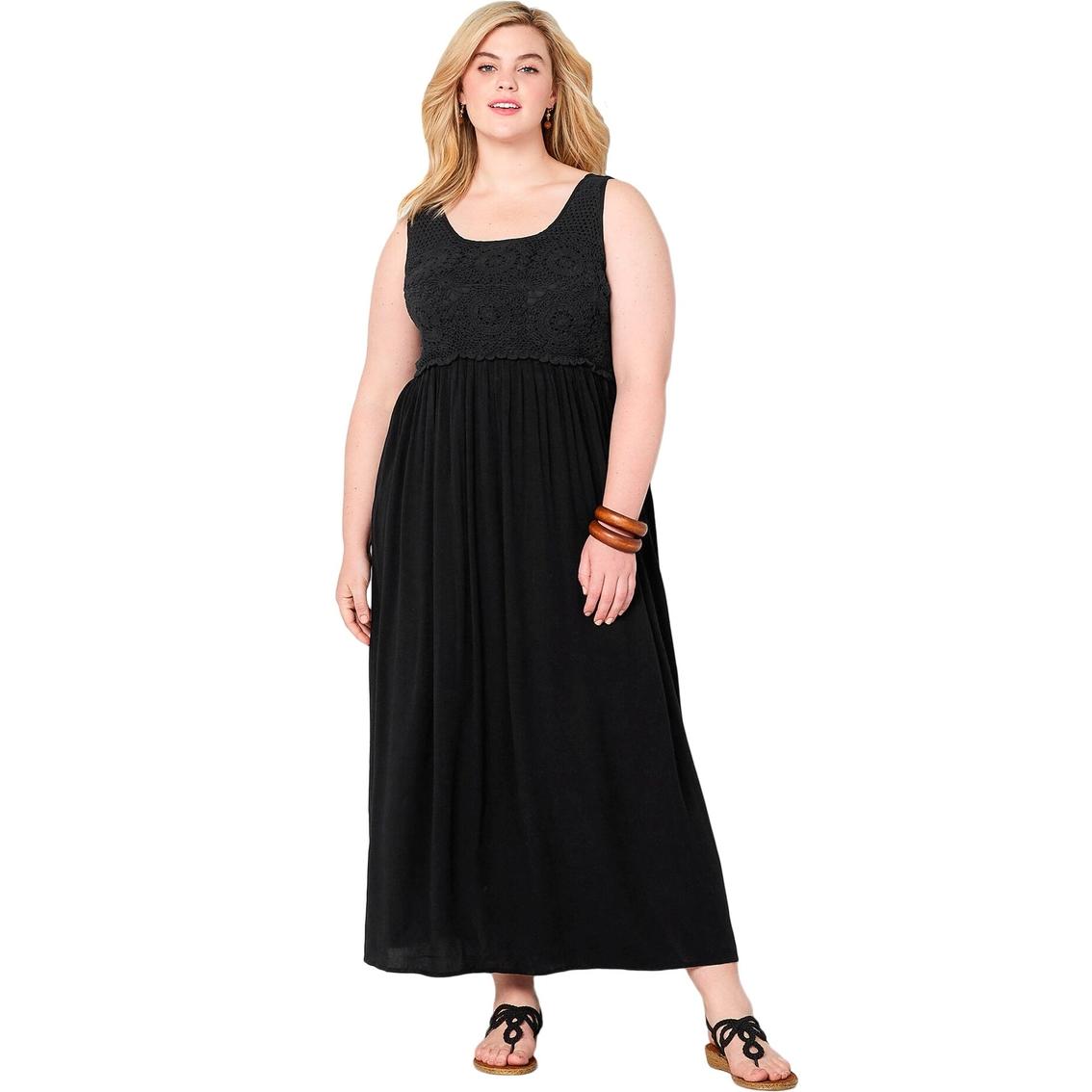 Avenue Plus Size Crochet And Gauze Maxi Dress | Dresses ...