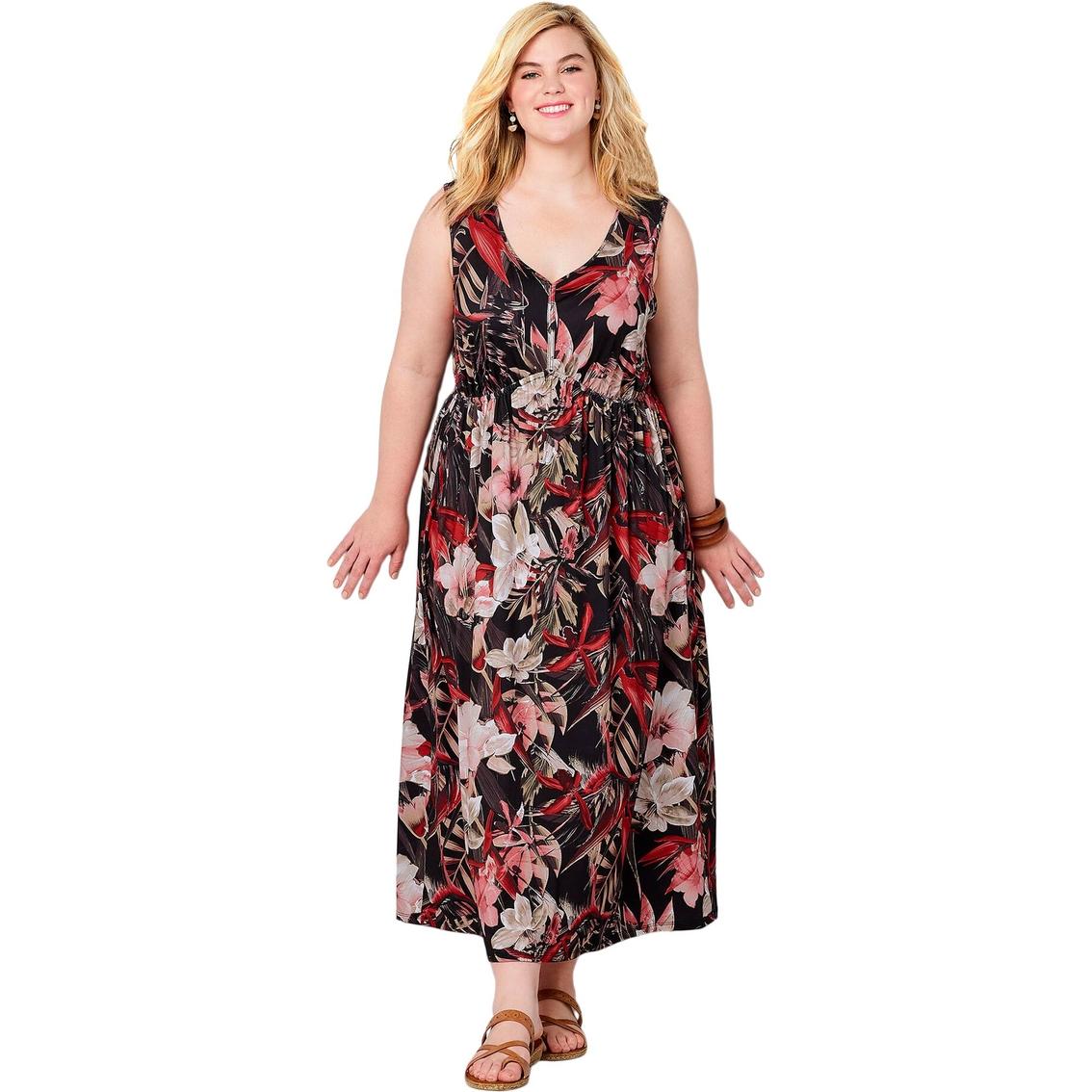 Avenue Plus Size Tropical Print Sheath Maxi Dress | Dresses ...