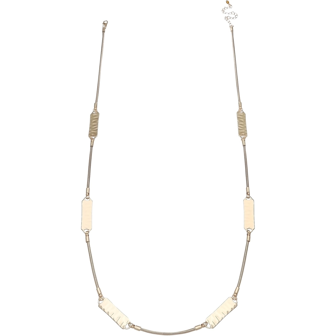 Jules B Goldtone Hammered 31 In  Station Necklace | Fashion