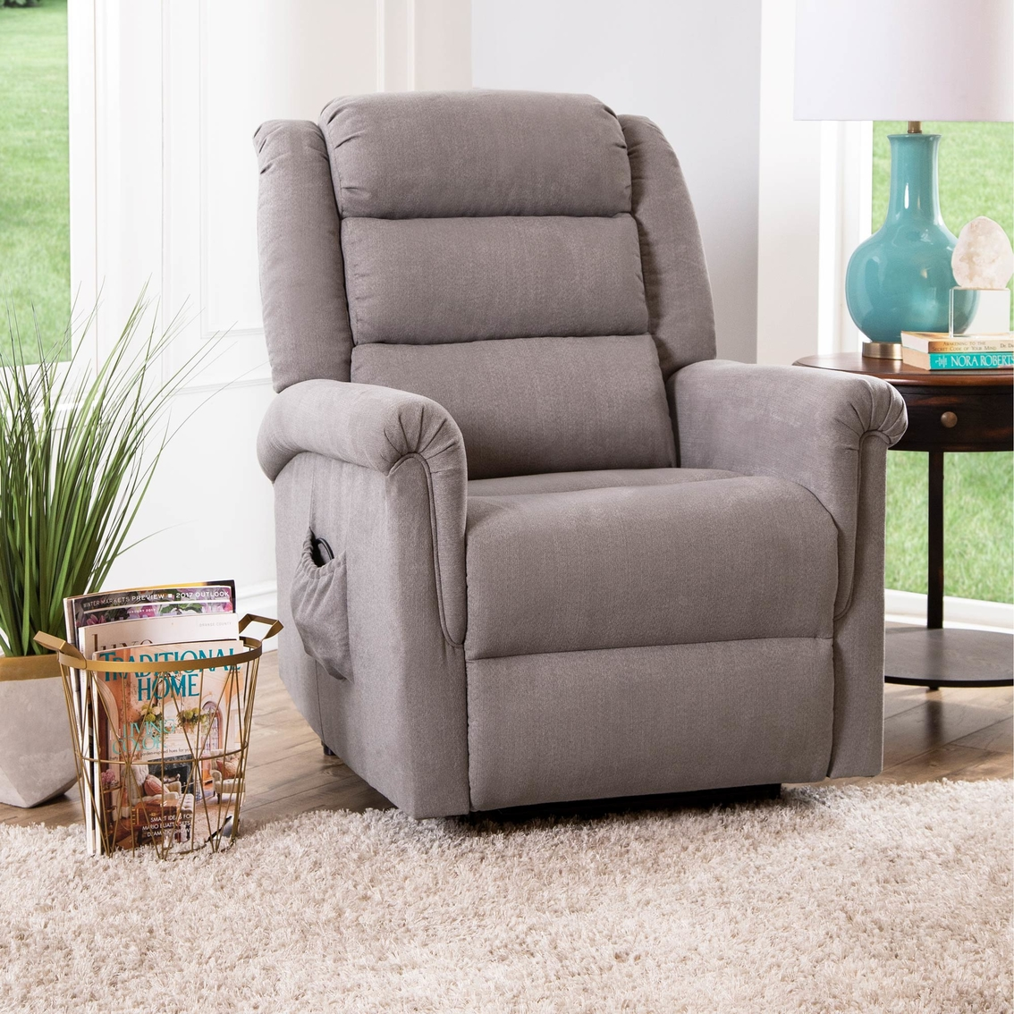 Superb Abbyson Overton Power Lift Recliner Chairs Recliners Gmtry Best Dining Table And Chair Ideas Images Gmtryco