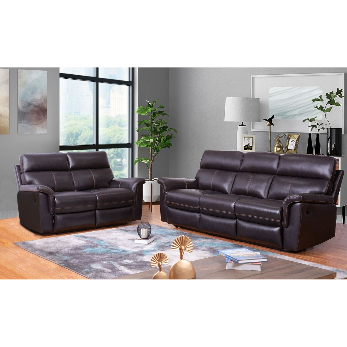 Outstanding Abbyson Wakefield Top Grain Leather Sofa And Loveseat Unemploymentrelief Wooden Chair Designs For Living Room Unemploymentrelieforg