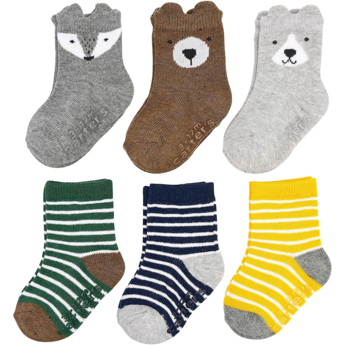 Carters Little Girls  3-Pack Stripe Computer Socks