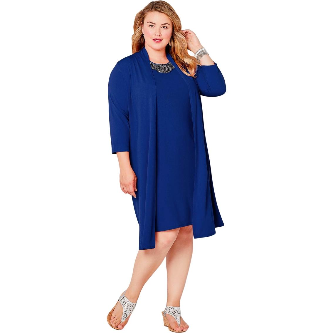 Avenue Plus Size Embellished Jacket Dress   Dresses ...