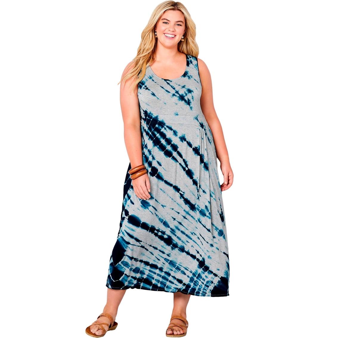 Avenue Plus Size Blue Tie Dye Maxi Dress | Dresses | Apparel ...